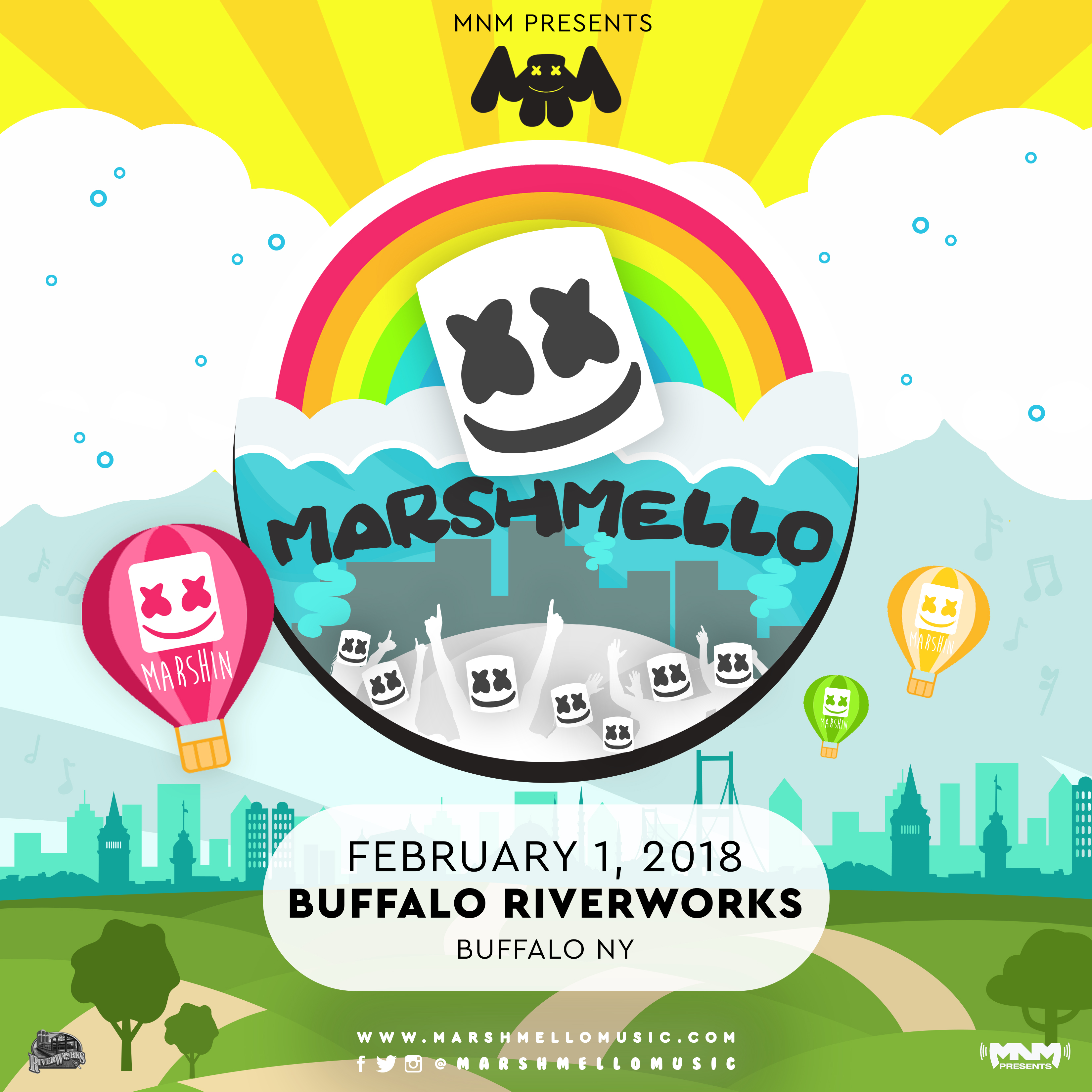 Marshmello live at riverworks this event is sold out rsvp via facebook here mnm presents marshmello stopboris Images