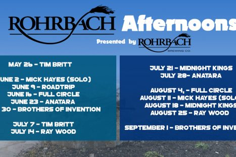 CONCERT SERIES:  Rohrbach Afternoons