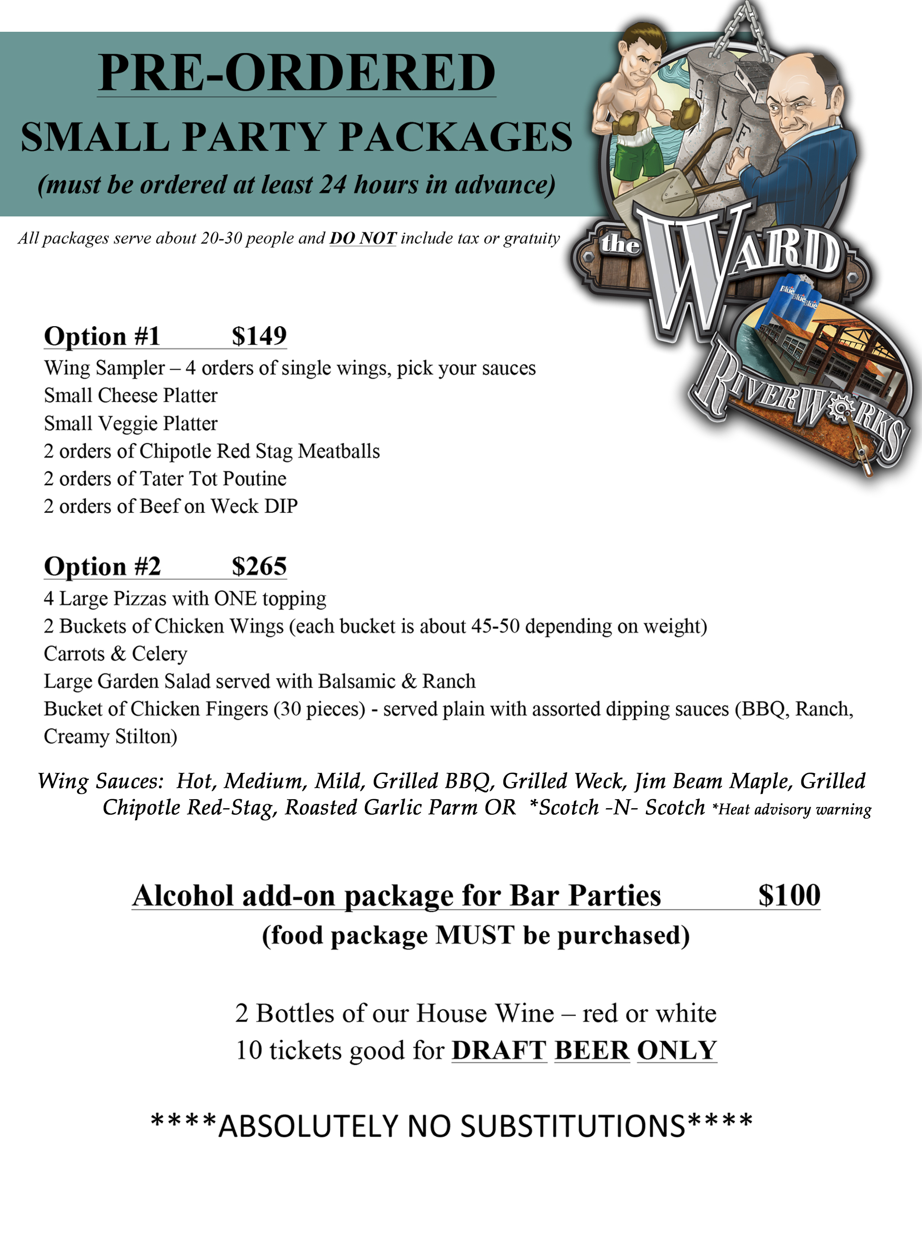 Download Preorder Small Party Package Menu