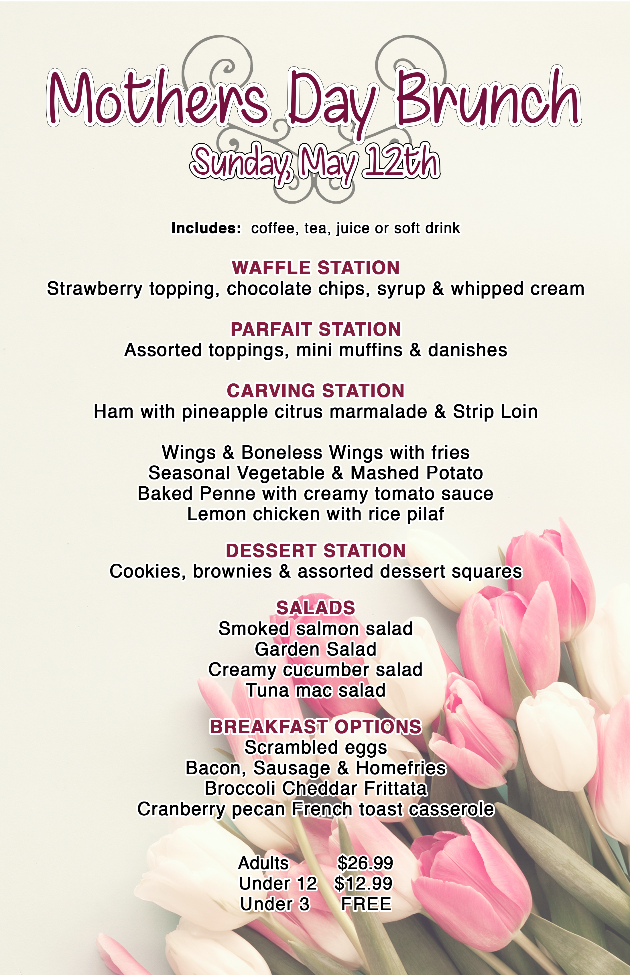 Restaurants for mothers day 2019 near me